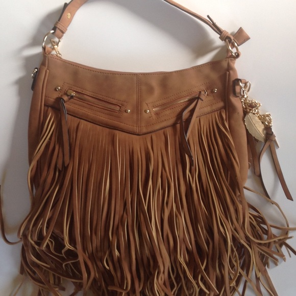 1bcf2eb644 Aldo Bags | Tan Boho Fringe Shoulder Bag | Poshmark